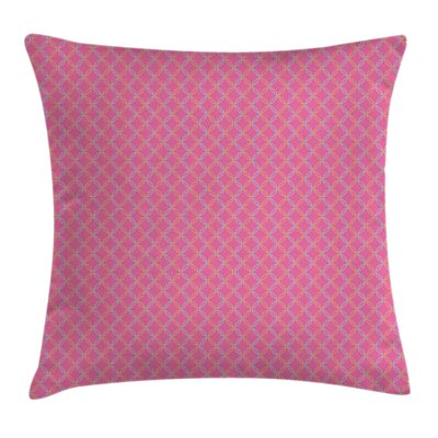 Modern Floral Circular Shapes Square Pillow Cover Size: 18 x 18