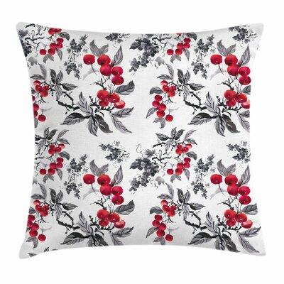 Abstract Botany Garden Square Pillow Cover Size: 24 x 24