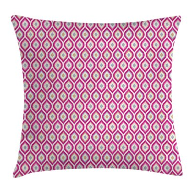 Curvy Nested Elliptic Square Pillow Cover Size: 16 x 16