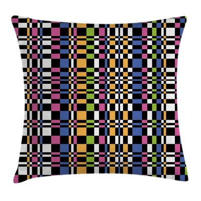 Checkered Art Square Pillow Cover Size: 18 x 18