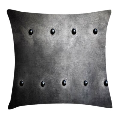 Metal Grunge Plate Square Pillow Cover Size: 18 x 18