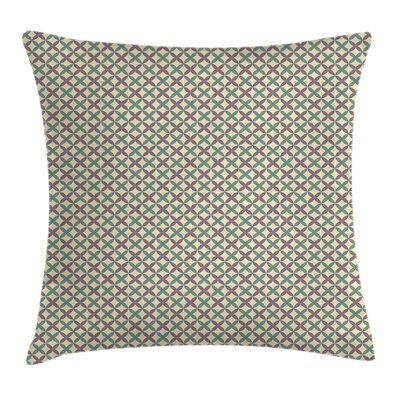 Modern Flowers Cushion Pillow Cover with Zipper Size: 24 x 24