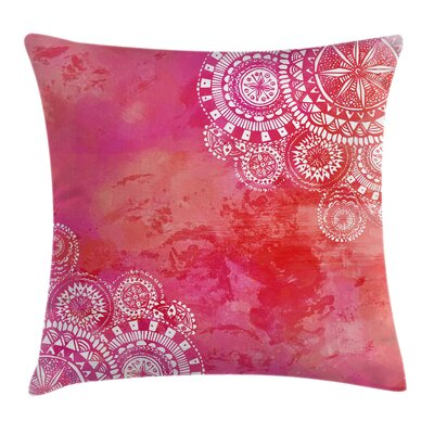 Mandala Indian Ethnic Motifs Square Pillow Cover Size: 16 x 16