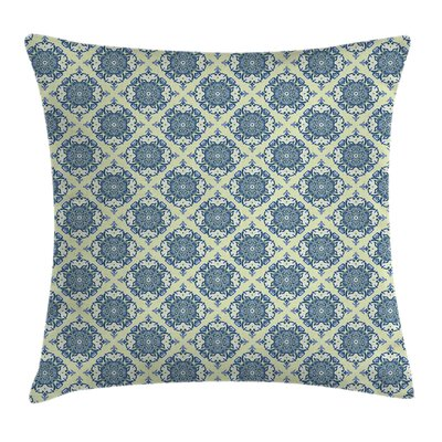 Mandala Curvy Floral Motifs Cushion Pillow Cover Size: 18 x 18