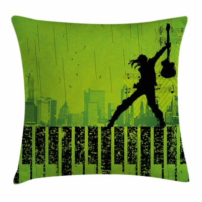 Music Pillow Cover Size: 18 x 18