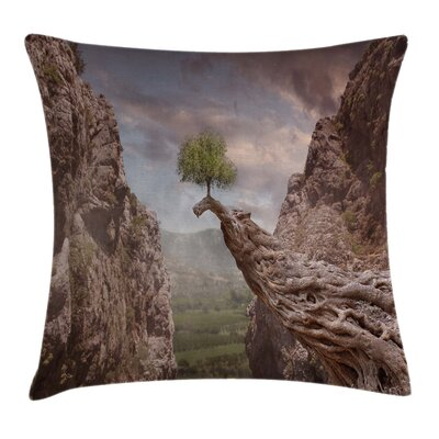 Mystic Mountains Tree Square Pillow Cover Size: 18 x 18