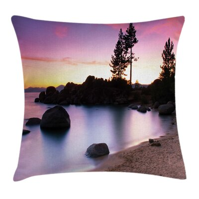 Lake Tahoe Cushion Pillow Cover Size: 18 x 18