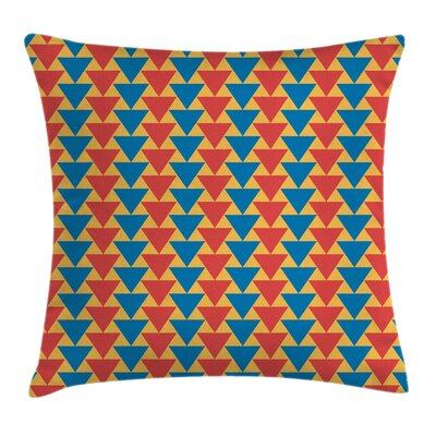 Vertical Triangles Cushion Pillow Cover Size: 18 x 18