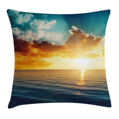 Sunny Sea Pillow Cover Size: 16 x 16