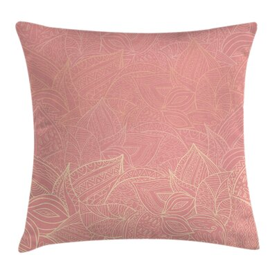 Floral Wild Leaf Figures Cushion Pillow Cover Size: 16 x 16