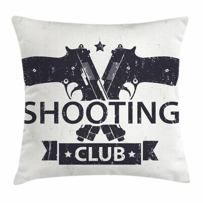 Shooting Club Pillow Cover Size: 18 x 18