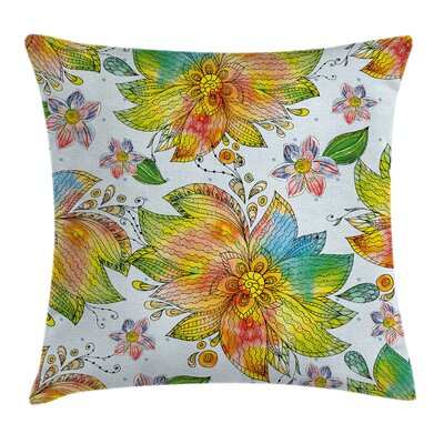 Macro Flower Petals Art Square Pillow Cover Size: 18 x 18