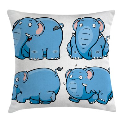 Elephant Pillow Cover Size: 16 x 16