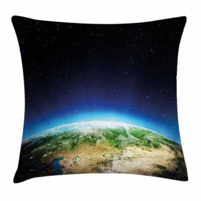 Russia from Space Sky Square Pillow Cover Size: 18 x 18