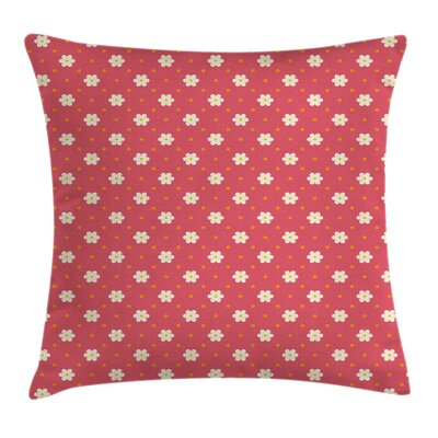 Artistic Pattern Daisy Square Pillow Cover Size: 18 x 18