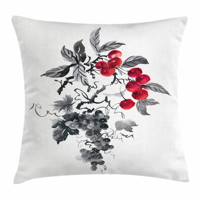Rural Natural Foliage Square Pillow Cover Size: 24 x 24