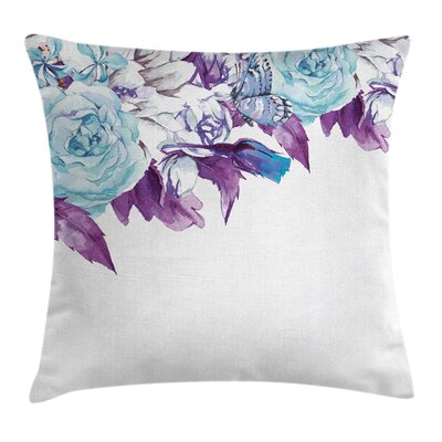 Vintage Flower Petals Square Pillow Cover Size: 20 x 20