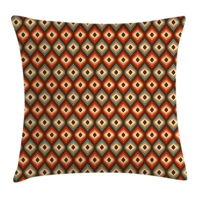 Unusual Vibrant Shapes Cushion Pillow Cover Size: 24 x 24