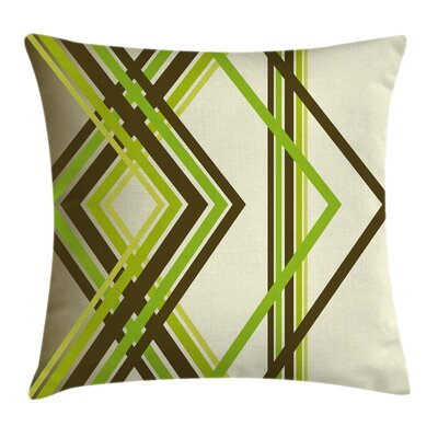 Diamond Shapes Square Pillow Cover Size: 18 x 18