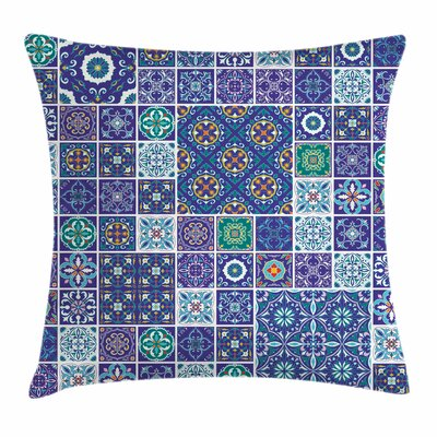 Traditional Mosaic Tile Square Pillow Cover Size: 16 x 16