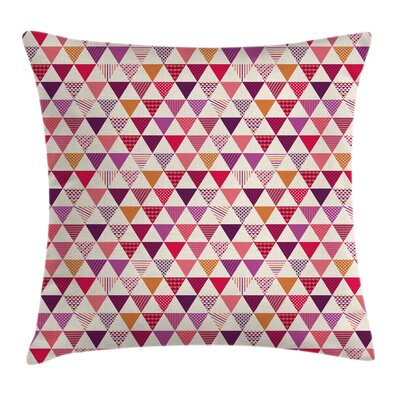 Triangles Dots Cushion Pillow Cover Size: 24 x 24