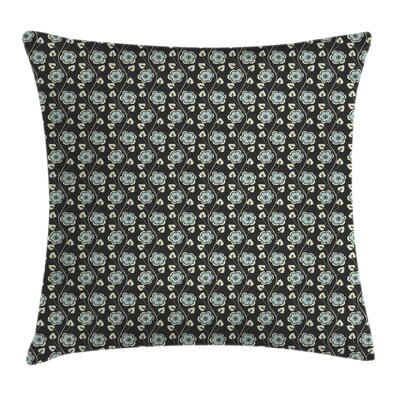Floral Pillow Cover with Zipper Size: 16 x 16