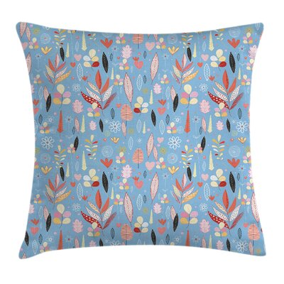 Modern Leaves Pillow Cover Size: 16 x 16