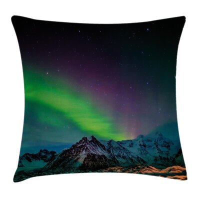 Sky over Rocky Hill Wild Cushion Pillow Cover Size: 24 x 24
