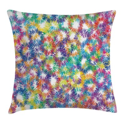 Fireworks Cushion Pillow Cover Size: 18 x 18