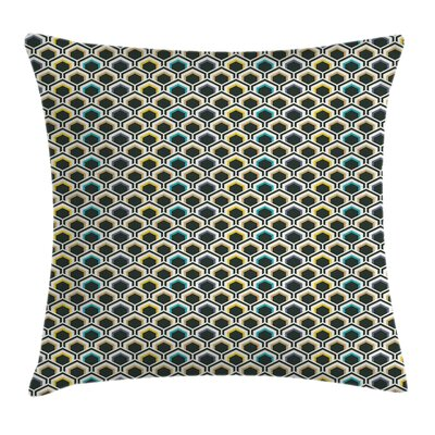 Hexagonal Overlapping Square Pillow Cover Size: 24 x 24