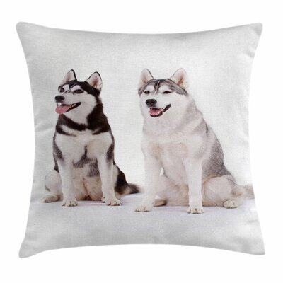 Alaskan Malamute Furry Doggies Square Pillow Cover Size: 18 x 18