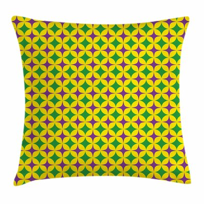 Mardi Gras Retro Pattern Stars Square Cushion Pillow Cover Size: 20 x 20