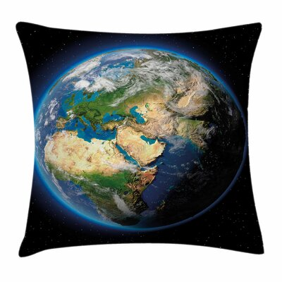 Earth Vivid Seas Greenery Square Cushion Pillow Cover Size: 24 x 24