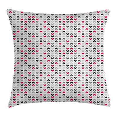 Zig Zags Chevron Cushion Pillow Cover Size: 18 x 18