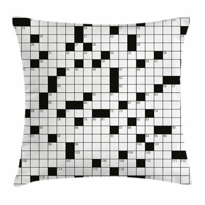 Puzzle Classical Square Cushion Pillow Cover Size: 18 x 18