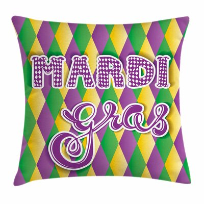 Mardi Gras Stylized Classical Square Cushion Pillow Cover Size: 20 x 20