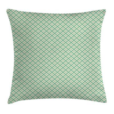 Checked Pattern Lines Cushion Pillow Cover Size: 16 x 16