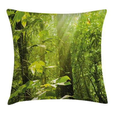 Leaf Branches Woodland Cushion Pillow Cover Size: 18 x 18