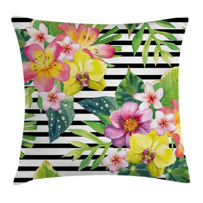 Various Flowers Bouquet Square Pillow Cover Size: 16 x 16