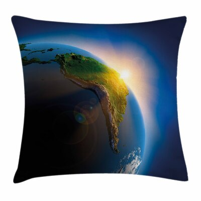 South America Continent Square Pillow Cover Size: 20 x 20