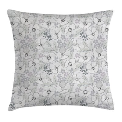 Sketchy Flowers Cushion Pillow Cover Size: 18 x 18