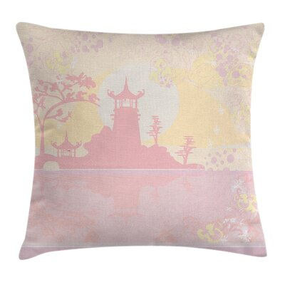Ancient China Landscape Cushion Pillow Cover Size: 20 x 20