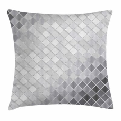 Metallic Seem Mosaic Square Cushion Pillow Cover Size: 24 x 24