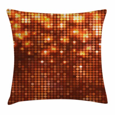 Vivid Dots Mosaic Square Pillow Cover Size: 18 x 18