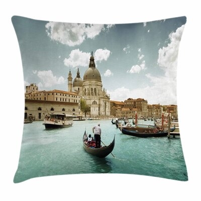 Basilica and Grand Canal Square Pillow Cover Size: 18 x 18