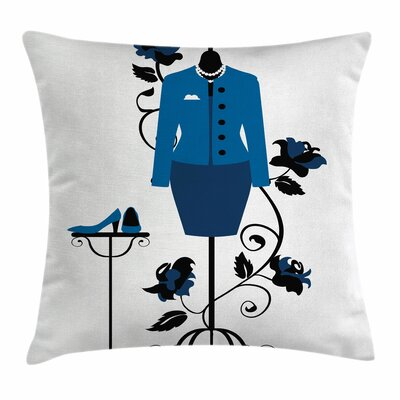 Heels and Dresses Tailors Shop Square Pillow Cover Size: 24 x 24