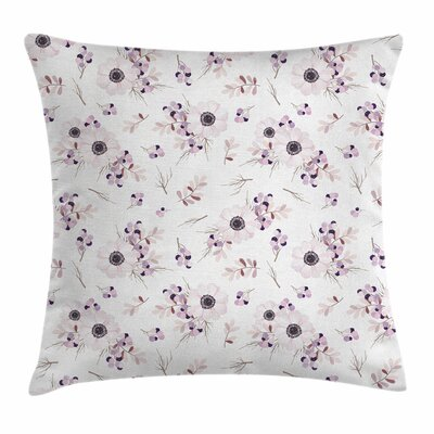 Anemone Bridal Romantic Square Cushion Pillow Cover Size: 24 x 24