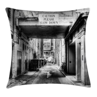 City Old Fashion Urban District Cushion Pillow Cover Size: 24 x 24