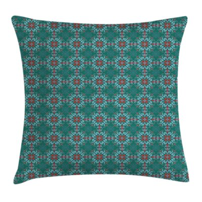 Floral Traditional Spanish Cushion Pillow Cover Size: 18 x 18