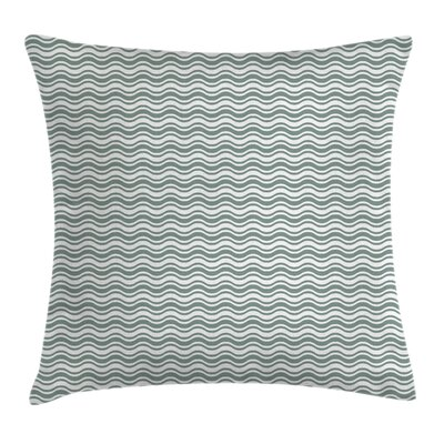 Curvy Stripes Waves Square Pillow Cover Size: 16 x 16